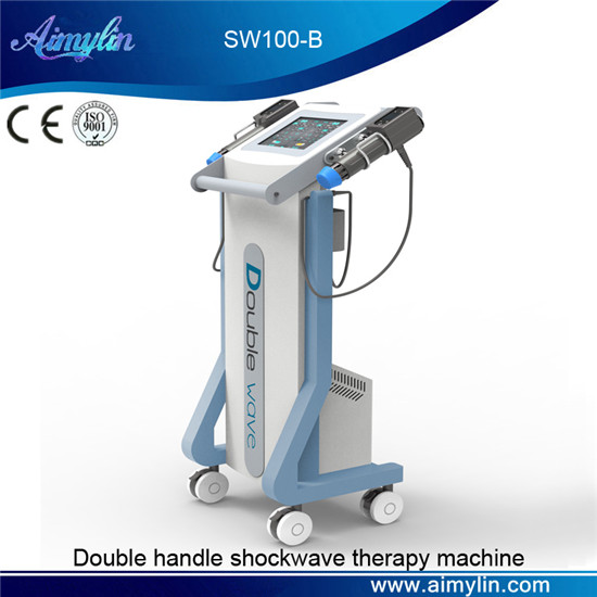 Double handle shcokwave therapy equipment SW100-B