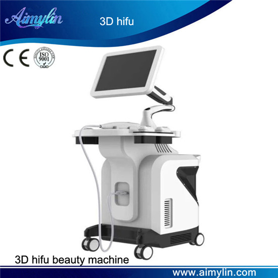3D hifu beauty machine with 8 hifu cartridges