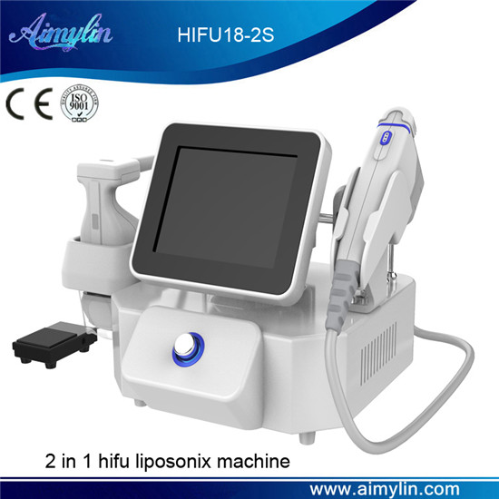 Hot selling 2 in 1 hifu liposonix beauty machine HIFU18-2S