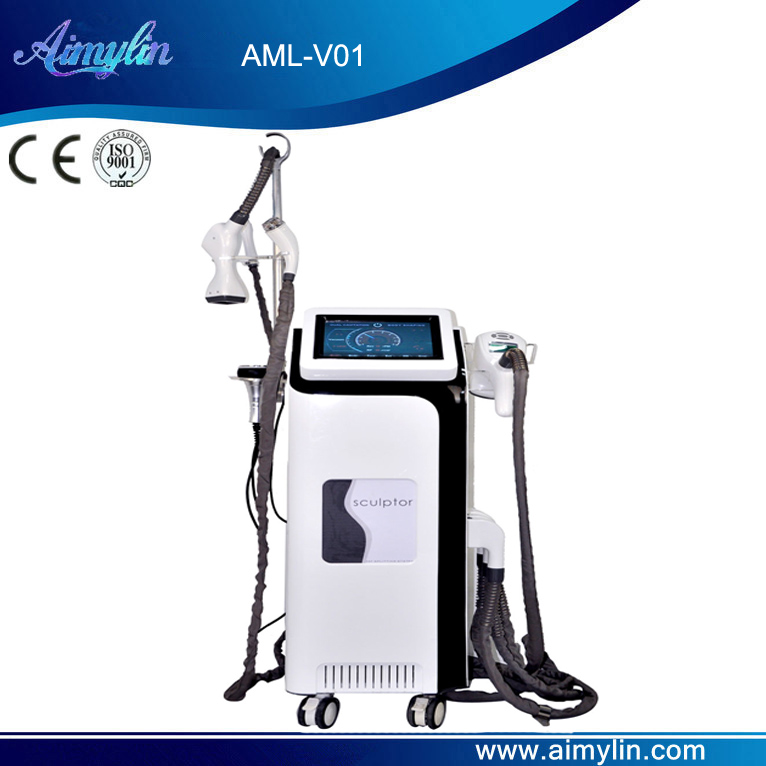 Vacuum roller RF laser cavitation slimming machine